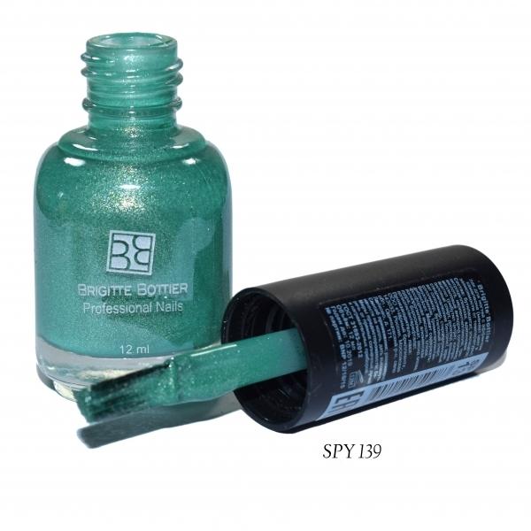 BRIGITTE BOTTIER Лак для ногтей тон SPY 139 ярко-зеленый/светло-зеленый / Color Spy 12мл