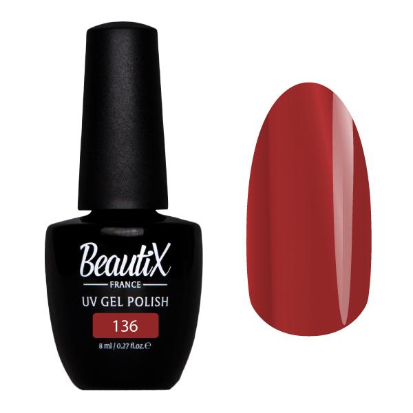 Купить BEAUTIX 136 гель-лак для ногтей 8 мл, Коричневые