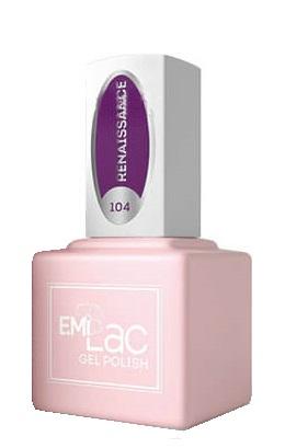 Купить E.MI 104 SCO гель-лак для ногтей, Ренессанс / E.MiLac 6 мл, Фиолетовые
