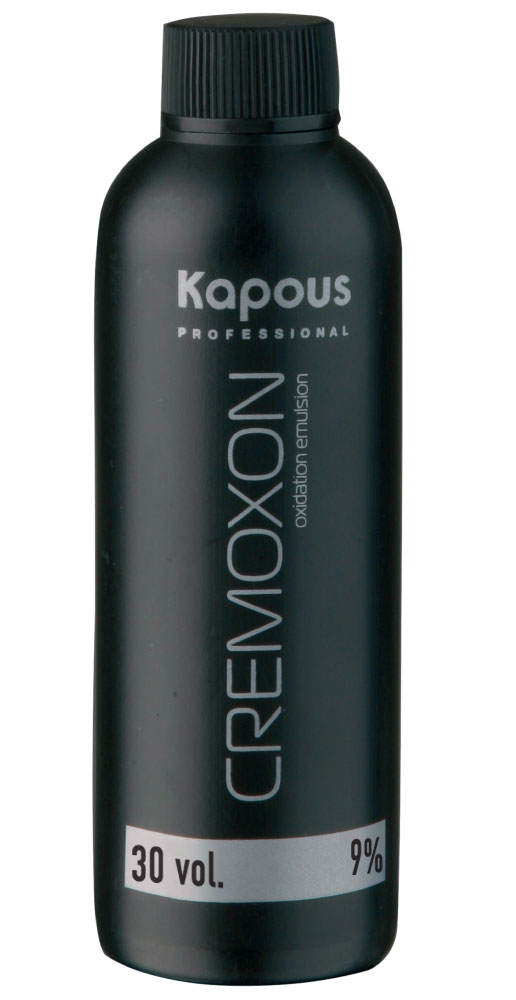 KAPOUS Эмульсия окисляющая 9% / Cremoxon 150млОкислители<br>9% - для окрашивания на 2-3 тона светлее исходного цвета. Специальный крем-оксид для использования с кремами-красками KAPOS PROFESSIONAL. Богатый комплекс природных питательных веществ и стабилизаторов оптимально защищает волосы в процессе окрашивания. Перемешивание косметического средства с кремами-красками позволяет Вам достичь стойких желаемых цветов и оттенков, со всем возможным многообразием палитры. Специальная формула KREMOXON KAPOUS легко соединяется с кремами-красками. Краска легко наносится, вымешивается и равномерно распределяется на волосах. В процессе окрашивания препарат не стекает, тем самым обеспечивая равномерное окрашивание. Безупречно сочетается с крем-красками Kapous, а так же со всеми обесцвечивающими средствами Kapous. Способ применения: применение крем-краски  Kapous  невозможно без проявляющего крем-оксида  Cremoxon Kapous . Краски отличаются высокой экономичностью при смешивании в пропорции 1 часть крем-краски и 1,5 части крем-оксида 9%. Для наиболее эффективной защиты волос при окрашивании, равномерно нанесите KAPOUS CREMOXON непосредственно перед окрашиванием.<br><br>Содержание кислоты: 9%<br>Класс косметики: Косметическая