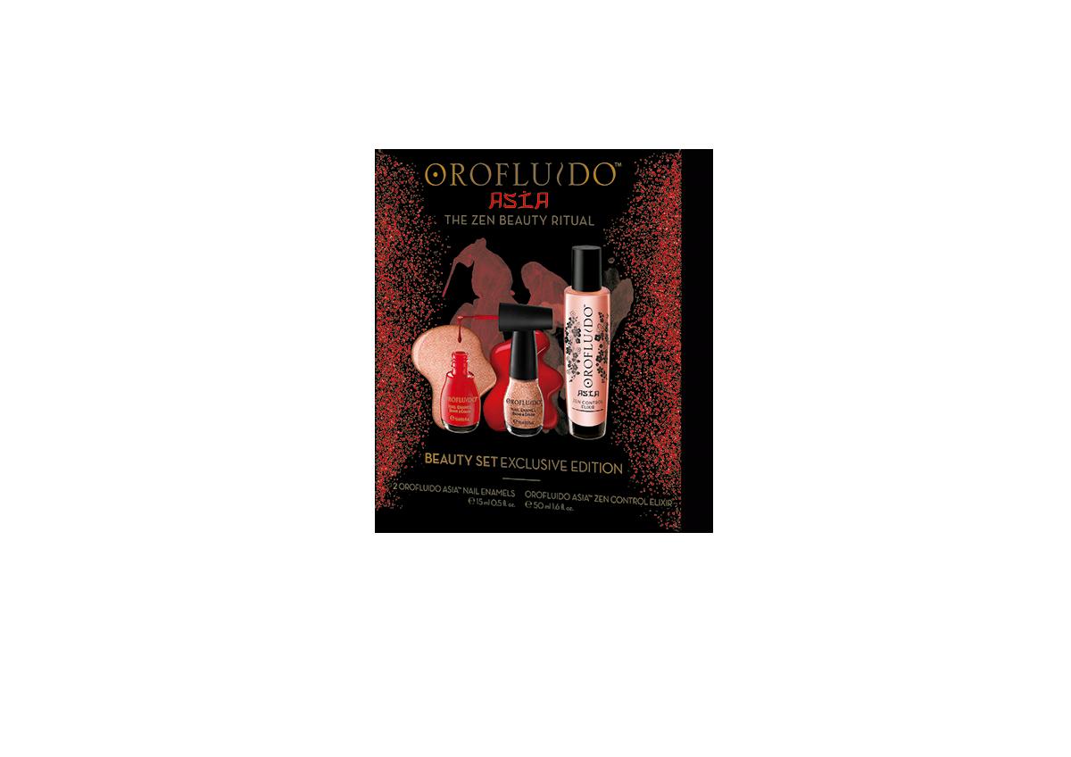 все цены на OROFLUIDO Набор подарочный Orofluido Asia (эликсир 50 мл + лаки для ногтей) онлайн