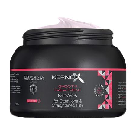 EGOMANIA Маска для нарощенных и выпрямленных волос / KERNOX STRAIGHT 500 млМаски<br>Маска предназначена для интенсивного ухода за нарощенными и выпрямленными волосами. Служит основным источником белков, масел и экстрактов трав. Действие маски может быть значительно усилено специальным коктейлем системы реконструкции и восстановления сильно повреждённых волос. Активные ингредиенты: сок листьев алоэ, экстракт цветков римской ромашки, экстракт чайного листа, экстракт женьшеня, экстракт гуараны, экстракт розмарина, масло сладкого миндаля, масло оливы, масло виноградных косточек, масло цветков календулы, масло ши, масло жожоба, масло аргана, экстракт граната, протеины пшеницы. Способ применения: нанесите маску на чистые, отжатые полотенцем волосы, равномерно распределяя пальцами от корней до концов волос. Время выдержки 10 минут. Тщательно смойте маску с волос теплой водой. Для более интенсивного ухода за наращенными и выпрямленными волосами, добавьте в маску коктейль наращенных и выпрямленных волос в пропорции 50 грамм маски и 2,5 грамма (1 саше) коктейля. Только для наружного применения. При возникновении раздражения кожи прекратите использование. Избегайте попадания в глаза.<br><br>Типы волос: Нарощенные