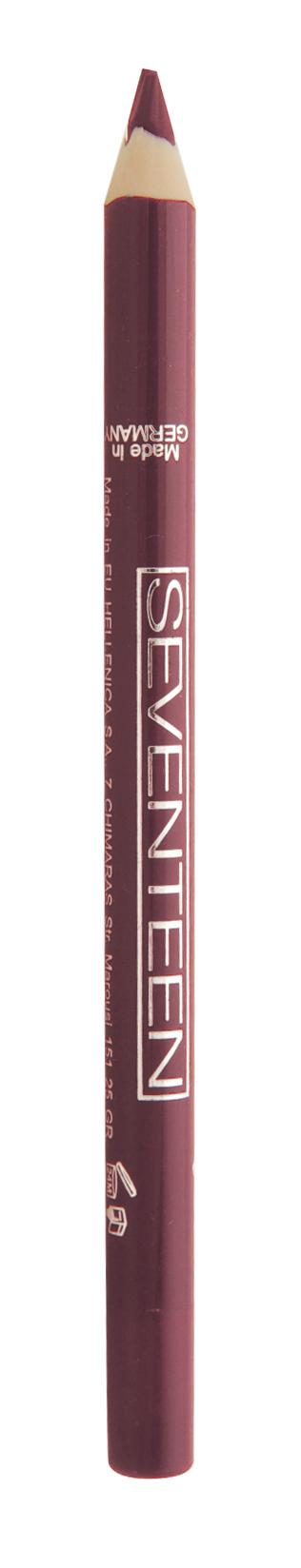 SEVENTEEN Карандаш водостойкий с витамином Е для губ, 08 клюква / Super Smooth W/P Lip Liner 1,2 г