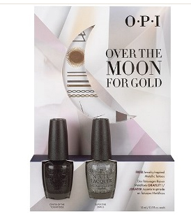OPI Набор лаков Over the Moon for Gold #2(HRG38, HRG39) 2*15мл~
