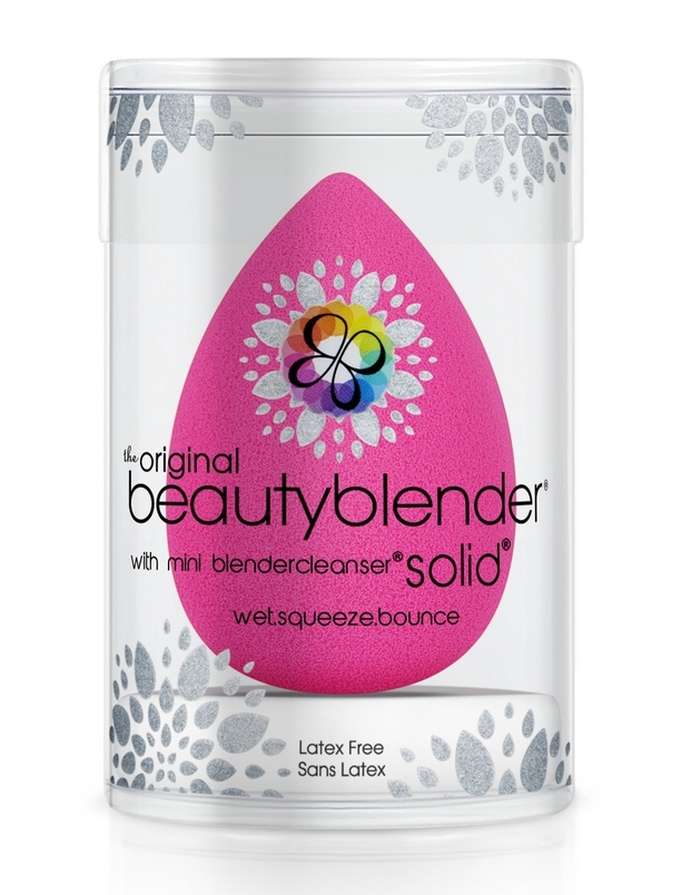 BEAUTYBLENDER Набор косметический (Beautyblender Original + Blendercleanser Solid 15гр) beautyblender спонж original и мини мыло для очистки solid blendercleanser