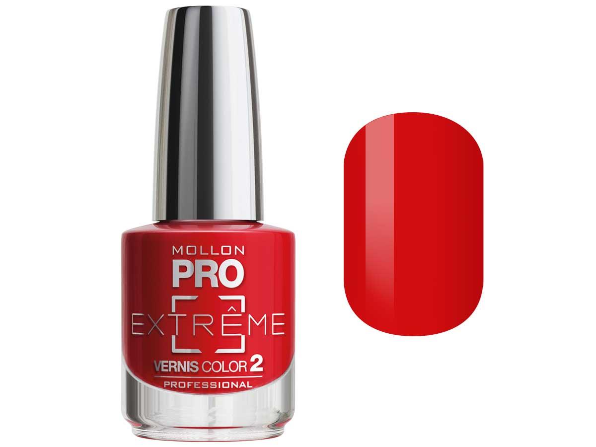 MOLLON PRO Покрытие для ногтей цветное / Extreme Vernis Color  19 10млЛаки<br>Mollon PRO EXTREME 3 STEPS VERNIS   это инновационная, трехфазная система для стилизации ногтей. Благодаря формуле, обогащенной полимерами, продукты высыхают при естественном освещении, что позволяет сохранить эффект супер блеска на ногтях до 10 дней. Продукты наносятся как классический лак для ногтей, смываются жидкостью для снятия лака с ацетоном без компресса. EXTREME VERNIS COLOR COAT 2 - основной цвет очень гибкий, быстро сохнет и дает интенсивный цвет уже после первого цветного слоя. Способ нанесения: - Сделайте маникюр и обезжирьте ногтевую пластину. - Нанесите базу Mollon PRO Extreme Base Smooth Coat -1, дайте просохнуть 1 минуту. - Нанесите два слоя цветного лака Mollon PRO Extreme -2, интервал между слоями 2 минуты. - Покройте сверху закрепителем Mollon PRO Extreme Gloss Top Coat -3. - Оставьте на 10 минут для высыхания. Для снятия покрытия используйте жидкость для снятия лака.<br><br>Цвет: Красные<br>Класс косметики: Профессиональная<br>Виды лака: Глянцевые