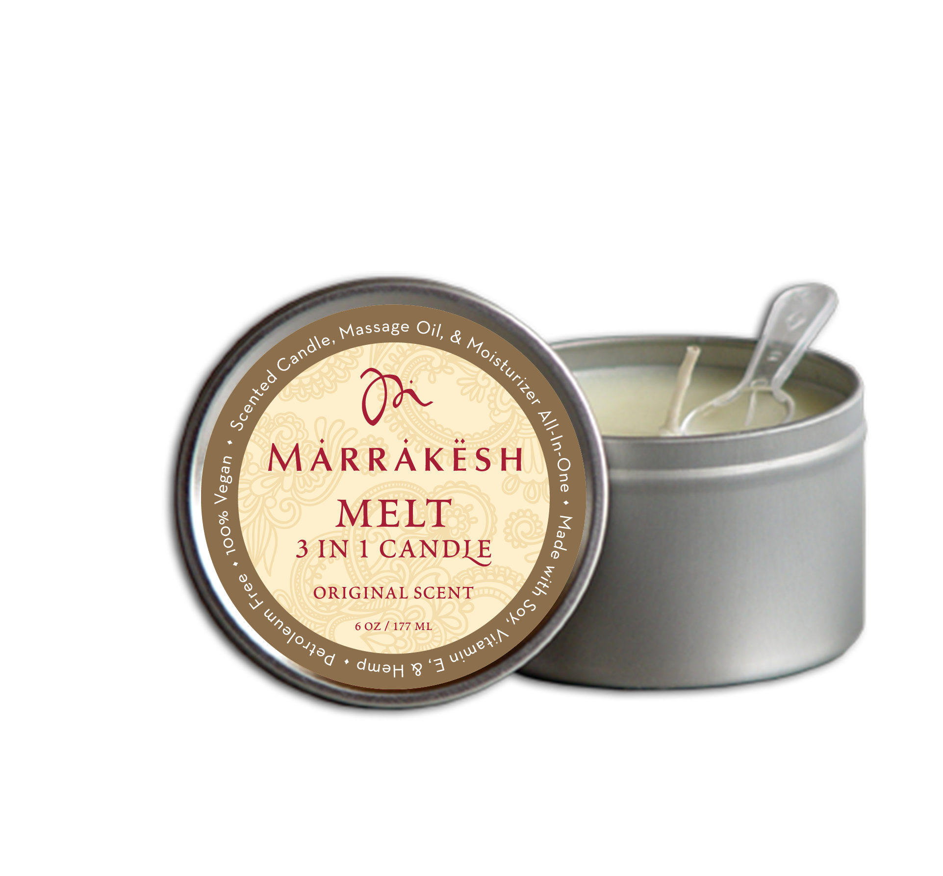 MARRAKESH Свеча 3 в 1 для тела (аромат Original) / Marrakesh 3 IN 1 Candle MELT ORIGINAL 180 мл