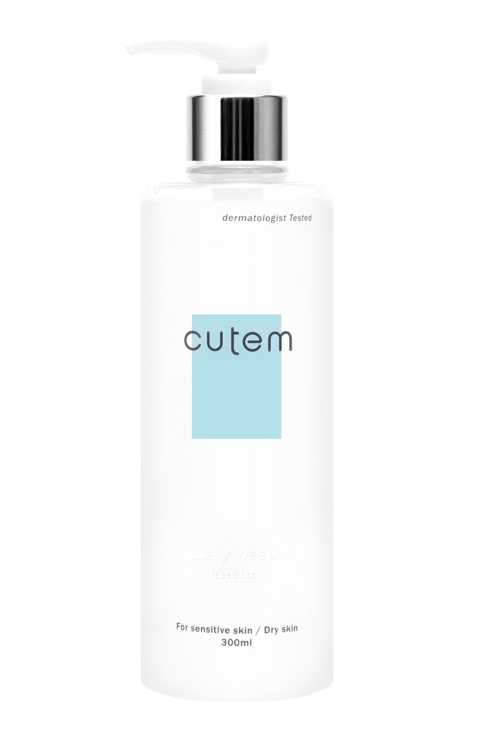 CUTEM Гель очищающий для лица и тела для сухой и чувствительной кожи / СUTEM DAILY Wash Face & body 300 мл - Гели