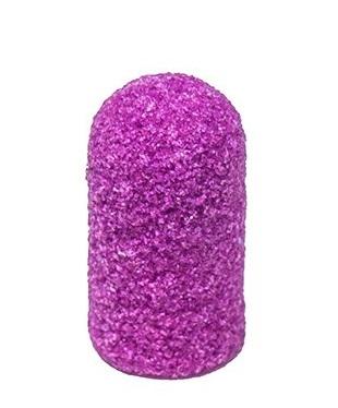 Купить ЧИСТОВЬЕ Колпачок-насадка для педикюра фиолетовый, пластик, 7 мм 320 грит, 10 шт