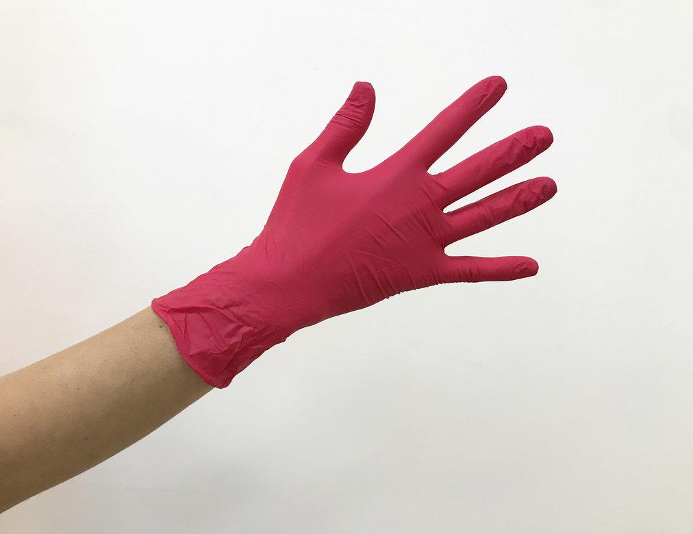 ЧИСТОВЬЕ Перчатки нитрил М красный 100 шт -  Перчатки