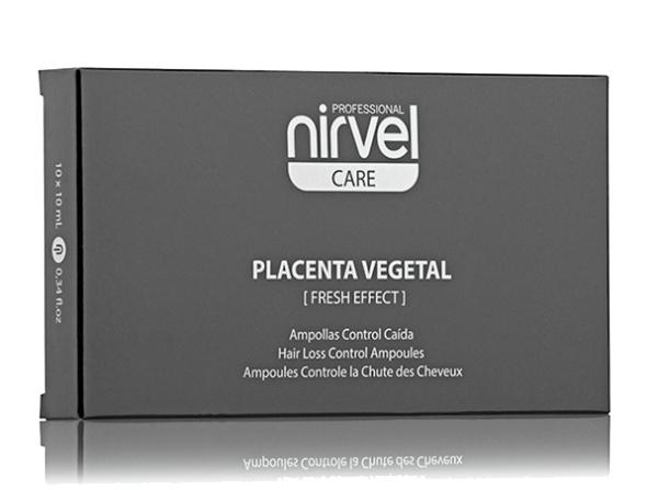NIRVEL PROFESSIONAL Ампулы с плацентой против выпадения волос и жирности кожи головы / PLACENTA VEGETAL FRESH EFFECT 10*10 мл