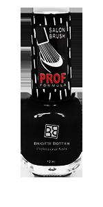 BRIGITTE BOTTIER 801 лак для ногтей, черный / PROF FORMULA 12 мл