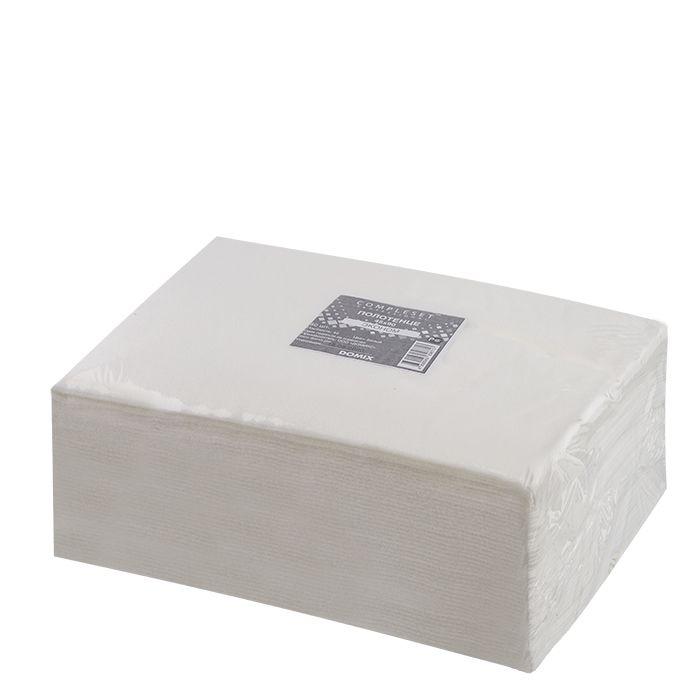 DOMIX Полотенце в сложении 35*70 см спанлейс 50 г/м2 белый 50 шт/уп