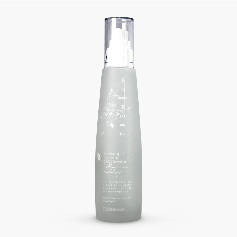 PREMIUM Аромаспрей тонизирующий с коллагеном / Homework 225млСпреи<br>Препарат способствует улучшению тонуса кожи и обеспечивает ей дополнительное увлажнение и защиту в течение дня. Благодаря совершенному механизму распыления, создает тончайшее водяное облако, нежно окутывающее кожу и не нарушающее макияж. Уход за сухой и сухой увядающей кожей, в т.ч. чувствительной, в течение дня (в промежутках между утренним и вечерним уходом). Может наноситься на макияж. Особенно рекомендуется для применения в летний период. Улучшает барьерную функцию кожи. Увлажняет. Благотворно влияет на обменные процессы. Тонизирует. Положительно воздействует на местный иммунитет кожи и предупреждает преждевременное старение. Активные ингредиенты: вода очищенная, вода шунгитовая, натрия пирролидонкарбоксилат, коллаген гидролизованный, бетаин, ПЭГ-40 гидрогенизированного касторового масла, метилизотиазолинон, йодопропинилбутилкарбамат, рапа, отдушка, бисаболол, масло эфирное лимона. Способ применения: распылять на лицо, шею и декольте в течение дня по мере необходимости.<br><br>Объем: 225<br>Вид средства для лица: Тонизирующий<br>Время применения: Летний
