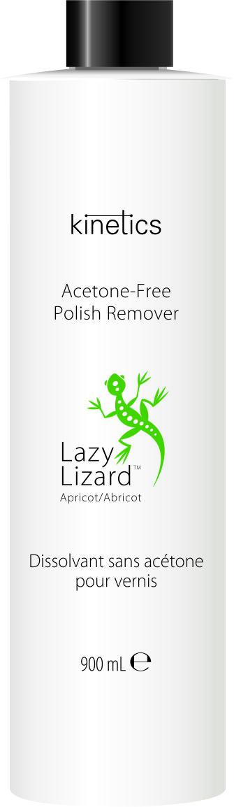 KINETICS Ремувер для снятия лака без ацетона Абрикос / Lazy Lizard 900 мл -  Снятие лака