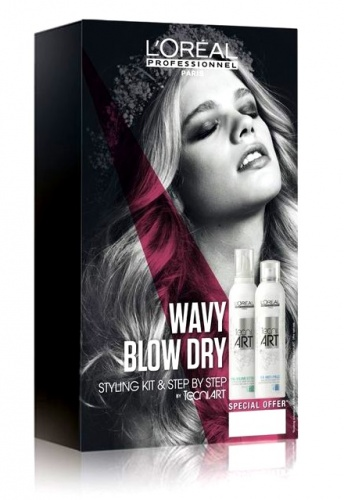 "LOREAL PROFESSIONNEL ����� ��������� ""������ ����� Blow Dry"" /Fix Anti-Frizz 250��l+ Full Volume Extra 250��"