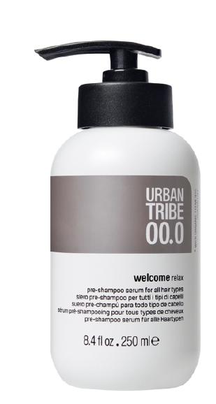 URBAN TRIBE Шампунь подготовительный 00.0 / Pre-Shampoo Serum 250млШампуни<br>Подготовительный шампунь для всех типов волос: расслабляющая формула, содержащая специальные эфирные масла и эксклюзивные активные ингредиенты, доставляет истинное наслаждение, а простой приятный массаж подготавливает волосы, делая их более послушными и увлажняя их перед очищением. Натуральное масло арганы, питает, смягчает, обладает свойствами антиоксиданта, придает блеск. Эфирное масло сладкого апельсина, очищает и восстанавливает. Эфирное масло бергамота, восстанавливает баланс, поднимает настроение. Эфирное масло розмарина, восстанавливает и очищает. Эфирное масло лимона, очищает и расслабляет. Эфирное масло кориандра, очищает и расслабляет. Эфирное масло гвоздики, восстанавливает и обладает свойствами антиоксиданта. Эфирное масло лаванды, восстанавливает баланс и очищает. Эфирное масло лемонграсса, восстанавливает и обладает свойствами антиоксиданта. Эфирное масло тмина, восстанавливает и очищает. Эфирное масло мирта, восстанавливает и очищает.Активные ингредиенты: натуральное масло арганы, эфирное масло сладкого апельсина, эфирное масло бергамота, эфирное масло розмарина, эфирное масло лимона, эфирное масло кориандра, эфирное масло гвоздики, эфирное масло лаванды, эфирное масло лемонграсса, эфирное масло тмина, эфирное масло мирта.Способ применения: увлажните волосы с помощью бутылки воды с распылителем, возьмите welcome relax в руки, разотрите в ладонях и нанесите на волосы, массируя голову, начиная от кожи головы и заканчивая кончиками волос. Не смывая, приступайте к процедуре очищения, увлажнив волосы и применив подходящий шампунь<br><br>Вид средства для волос: Несмываемый<br>Типы волос: Для всех типов