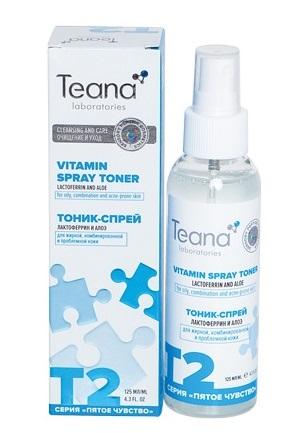 TEANA Тоник-спрей энергетический матирующий с лактоферрином 125 мл