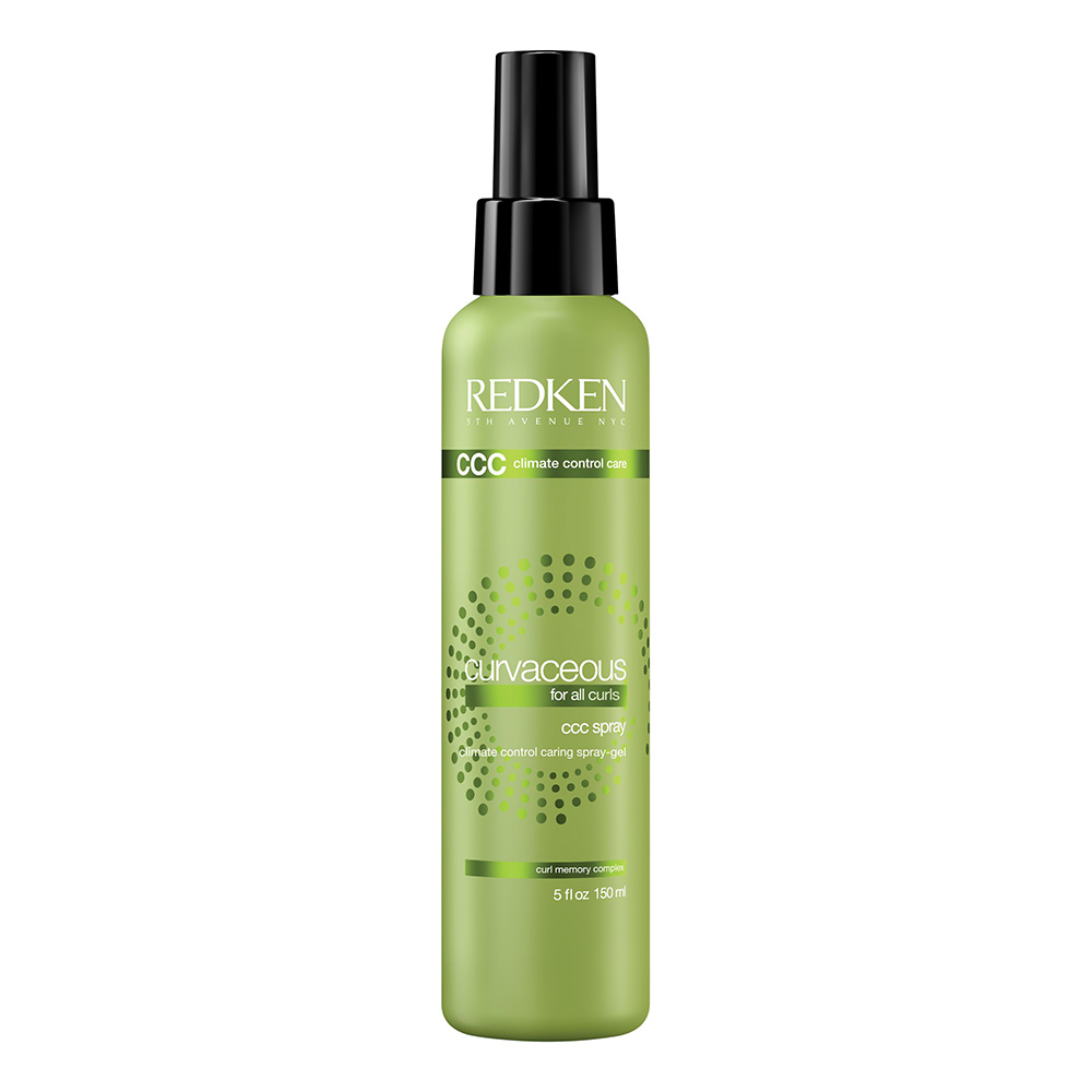 REDKEN Гель-спрей для упругости и защиты от влажности / CURVACEOUS RENO 150млГели<br>Redken Curvaceous Spray   уникальный гель-спрей, придающий волосам упругость и надежно защищающий их от распушения во влажную погоду. Средство обеспечивает завиткам четкость, улучшает форму прически, надежно фиксирует ее. При этом волосы не теряют своей эластичности и лежат абсолютно естественно. В состав Редкен Кервейшес ССС-спрея входит масло моринги, питающее и увлажняющее волосы, а также кристаллы сахара, позволяющие сформировать локоны и зафиксировать их. УФ-фильтры защищают волосы от жарких лучей, не давая им пересушиваться и терять влагу. Кервейшес ССС-спрей подходит для всех типов волос. Не утяжеляет волосы и не провоцирует засаливание корней волос. Активные ингредиенты: кристаллы сахара, масло моринги, УФ-фильтры. Способ применения: нанесите спрей на чистые влажные волосы. Распределите по всей длине. Придайте желаемую форму локонам и высушите волосы в естественных условиях, либо воспользуйтесь диффузором.<br><br>Типы волос: Кудрявые