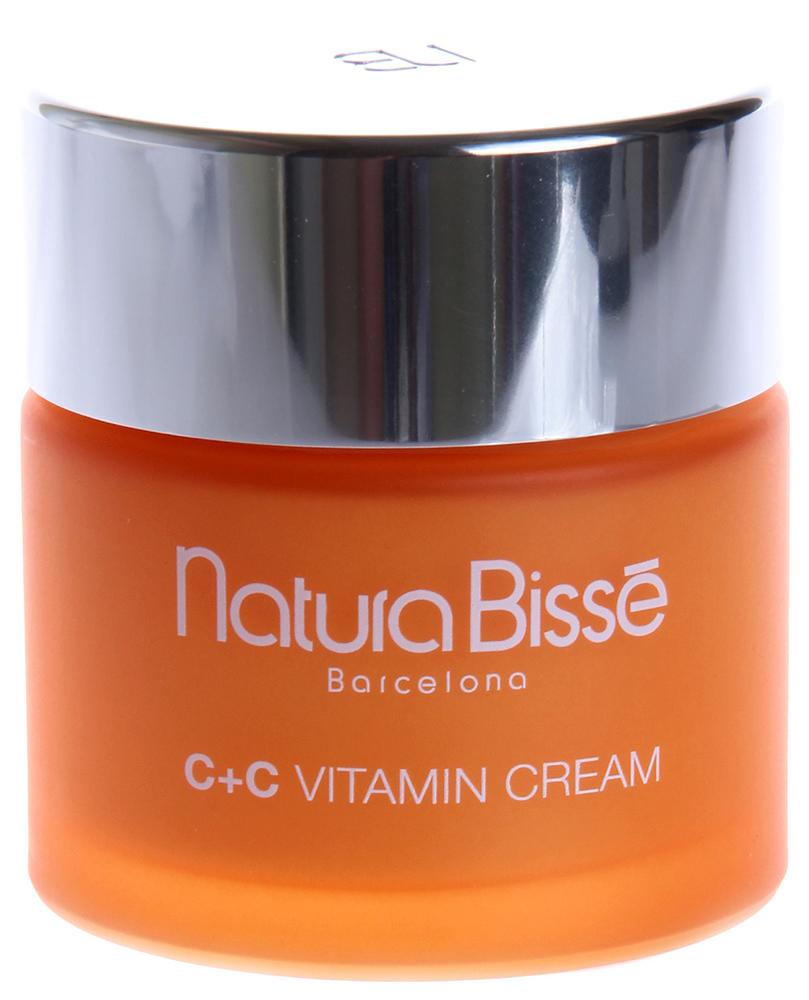 NATURA BISSE Крем с витаминами для нормальной и сухой кожи SPF10 / Cream C+C VITAMIN 75млКремы<br>C+C Vitamin Cream содержит 3% чистого витамина С и используется для восстановления упругости и эластичности кожи. Максимальное усвоение витамина С и реализация его антиоксидантного действия обеспечивается добавлением в крем витамина Е. Содержащиеся в препарате SGF-комплекс и масло шиповника, богатое витамином С, стимулируют регенерацию тканей кожи. Натуральные аминокислоты, входящие в состав коллагена, и аллантоин возвращают коже утерянную влагу и делают ее более эластичной. Крем подходит для нормальной и сухой кожи. SPF 10. Нейтрализует действие свободных радикалов. Стимулирует синтез коллагена и репаративные процессы в коже. Защищает кожу. Способствует восстановлению эластичности и упругости кожи. Увлажняет кожу. Активные ингредиенты (состав): Active Ingredients: Avobenzone, Homosalate, Octocrylene. Other Ingredients: Water (Aqua), Propylene Glycol, Glyceryl Stearate, Butyrospermum Parkii (Shea) Butter, Sodium Ascorbyl Phosphate, C12-15 Alkyl Benzoate, Cetearyl Alcohol, Cetearyl Ethylhexanoate, Caprylic/Capric Triglyceride, Cetyl Alcohol, Benzotriazolyl Dodecyl p-Cresol, Rosa Canina Fruit Oil, Prunus Amygdalus Dulcis (Sweet Almond) Oil, Anogeissus Leiocarpus Bark Extract, Hydrolyzed Collagen, Tocopheryl Acetate, PEG-75 Stearate, Bisabolol, Cyclodextrin, Ascorbic Acid, Citric Acid, Ceteth-20, Steareth-20, Dimethicone, Carbomer 2984, Polysorbate 60, Sorbitan Stearate, Triethanolamine, Ethylhexylglycerin, Disodium EDTA, BHT, Sodium Bisulfite, Potassium Sorbate, Fragrance (Parfum), Limonene, Linalool, Amyl Cinnamal, Yellow 5 (CI 19140), Red 4 (CI 14700). Способ применения: рекомендуется использовать ежедневно (утром). Наносить на лицо, шею и декольте, массировать до полного впитывания.<br><br>Объем: 75