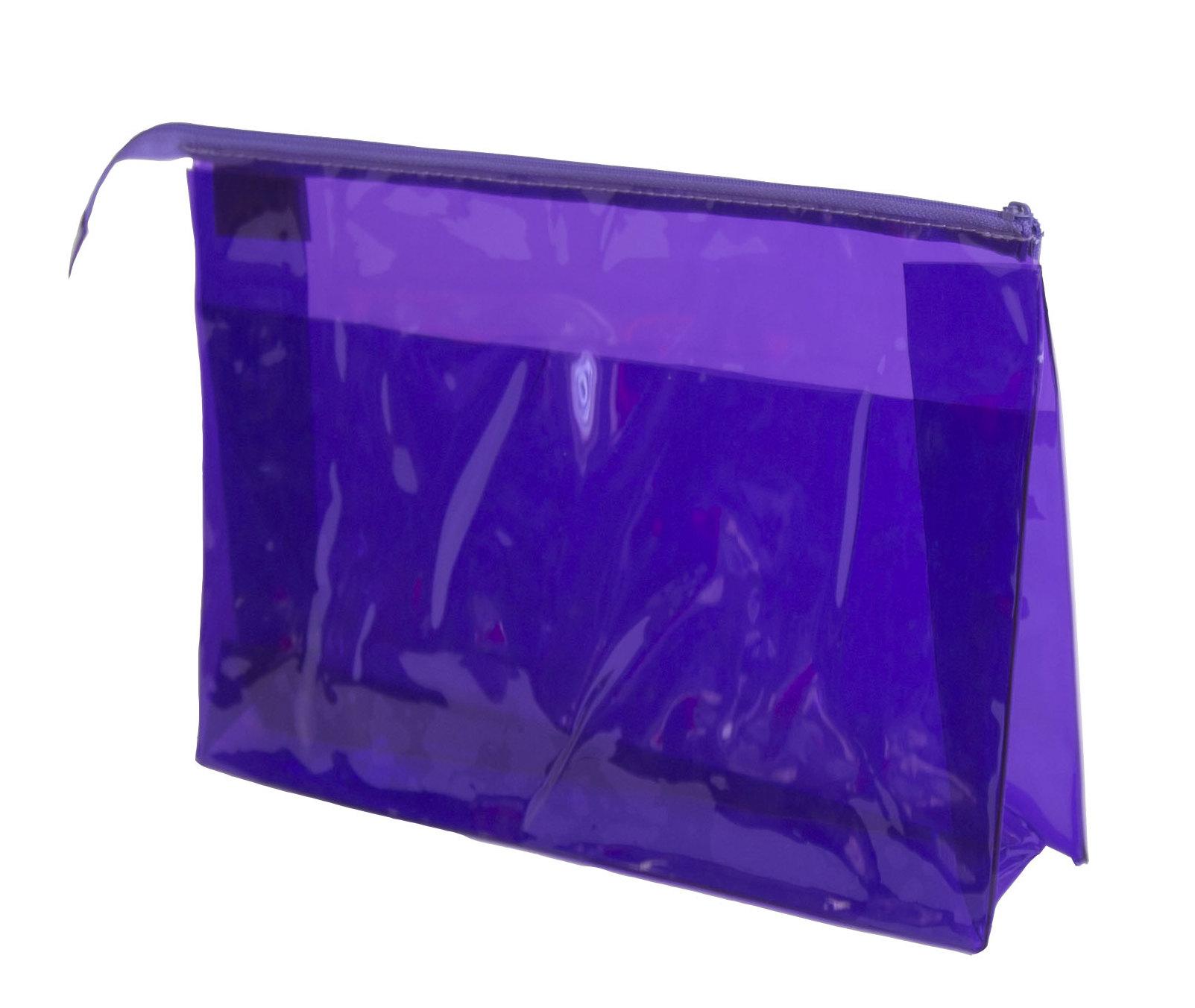 SIBEL Косметичка прозрачная синяя 30*20 см