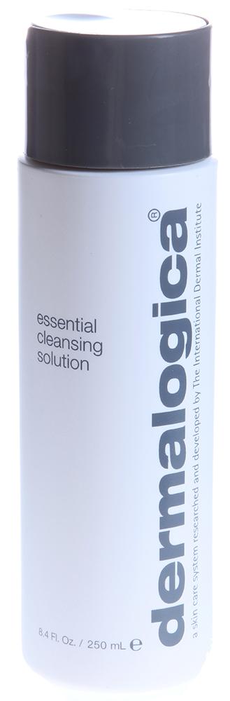 DERMALOGICA Очиститель эссенциальный / Essential Cleansing Solution 250млЛосьоны<br>Для сухой и преждевременно стареющей кожи. Эссенциальный очиститель эффективно очищает и одновременно наполняет сухую кожу необходимыми питательными компонентами. Увлажняющие масла сафлора, хмеля и розмарина насыщают кожу влагой в областях, где она особенно необходима. Экстракты лимона и еловых шишек удаляют загрязнения, устраняя тусклый оттенок. Активные ингредиенты: экстракт цитрусовых и сафлоровое масло, витамины Е, С, экстракты хмеля, хвоща и сосны. Способ применения: небольшое количество средства нанесите на влажную кожу, помассируйте лицо и шею. Смойте прохладной водой. Повторите. Используйте утром и вечером.<br><br>Типы кожи: Сухая и обезвоженная