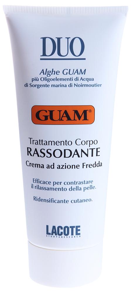 GUAM Крем укрепляющий с охлаждающим эффектом / DUO 200млКремы<br>Эффективно восстанавливает упругость и тонус кожи. Натуральные активные компоненты крема, богаты микроэлементами, аминокислотами, содержат Omega 3-6-9 полезные для питания и защиты кожи, синтезирует волокна коллагена и эластина, что значительно повышает тонус и упругость кожи. При регулярном использовании помогает восстановить и сохранить упругость, эластичность кожи.  Активные ингредиенты: Экстракт бурой водоросли, морская вода Нуармутье,ментол, масло бабассу.  Способ применения: Наносить на все тело лёгкими массажными движениями до полного впитывания.<br><br>Объем: 200<br>Вид средства для тела: Охлаждающий