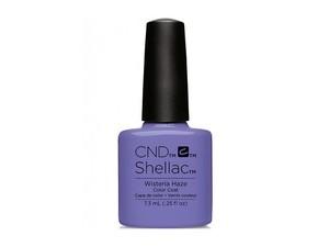 CND 90796 покрытие гелевое Wisteria Haze/ SHELLAC 7,3млГель-лаки<br>Один из модных и стильных оттенков летней коллекции CND Garden Muse 2015, выполненной в сиренево-синих и пурпурно-розовых тонах. В зависимости от вариаций сочетания цветов Вы можете быть сильной, самоуверенной и дерзкой, или нежной и романтичной. Гель-лак фиалкового цвета CND Shellac-Wisteria Haze   это высокое качество и доказанная временем формула, которая подходит как для профессионалов из салонов красоты, так и для домашних стилистов. Ярчайшая палитра цветов этой серии лаков отличается своей уникальностью, каждый цвет неповторим. Гель-лак CND Shellac легко наносится и имеет прекрасный нежный блеск. Лак практически не имеет запаха. После нанесения лак способен продержаться несколько недель. В случае, если вам приходится часто взаимодействовать с водой, то покрытие Shellac докажет свою устойчивость к царапинам, сколам и всевозможному истиранию. Ослабленные ногти после нанесения лака выглядят здоровыми и сильными. В состав гель-лака не входят химические компоненты, способствующие получению аллергических реакций. Способ применения: для нанесения гель-лака CND Shellac Вам понадобится: Ультрафиолетовая лампа, мощностью от 9 до 36 Ватт для полимеризации гель-лаков и гелей. От мощности лампы зависит время сушки покрытия. Меньше мощность   дольше сушка.&amp;nbsp; Обезжириватель для обработки ногтя перед нанесением базового слоя покрытия. Смочите в нем без ворсовую салфетку и протрите ногти. В идеале желательно использовать средство CND Scrubfresh, но так же можно применять препараты других фирм. Если ноготь ослабленный, тонкий или слоится, воспользуйтесь праймером NailFresh, который наносится только на свободный край ногтя.&amp;nbsp; &amp;nbsp;CND Shellac Base Coat   базовое покрытие. Основа продается в двух объемах   7,3 мл (достаточно для проведения 15-20 маникюров) и 12,5 мл. Базовое покрытие полимеризуют в УФ лампе от 10 сек до 1 мин.&amp;nbsp; &amp;nbsp;CND Shellac Color Coat. Его необходимо наносит