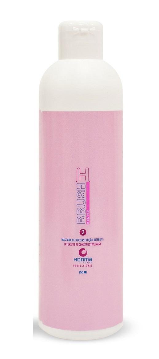 HONMA TOKYO Ботокс для волос, интенсивный реконструктор для восстановления и разглаживания волос с розовым пигментом / H-brush Botox Capilar Pink 250 мл - Ботокс