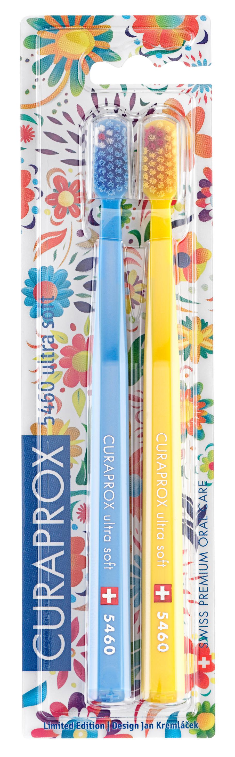 Купить CURAPROX Набор зубных щеток ultrasoft, d 0.10 мм, голубая и желтая / CS Duo Hawaii4 2 шт