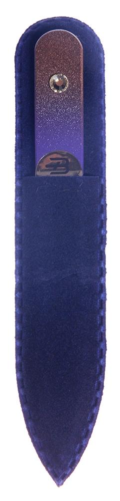BOHEMIA PROFESSIONAL Пилочка стеклянная цветная с 1 кристаллом 90мм