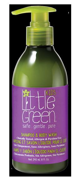 LITTLE GREEN Шампунь и гель для тела, без слез / KIDS 240 мл  - Купить