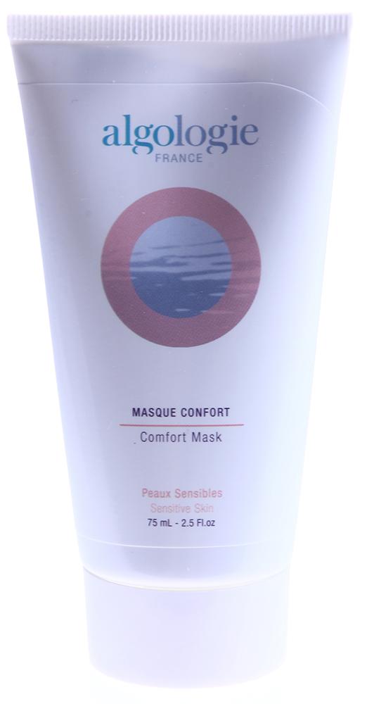 ALGOLOGIE Крем-маска успокаивающая 75млМаски<br>Идеальное средство для раздраженной, чувствительной кожи. Густой крем тает на коже, успокаивая и защищая ее, и дарит чувство глубокого комфорта. Имеет нейтральный уровень кислотности, за счет этого оздоравливает кожу. Обладает противовоспалительным, ранозаживляющим, охлаждающим эффектом. Особенно рекомендуется тем, у кого наблюдаются признаки купероза. Является средством скорой помощи для любых типов кожи. Результат виден сразу. Содержит натуральные компоненты, расслабляющие кожу и ликвидирующие следы стресса.  Активные ингредиенты: Энтелин 2, эпалин 100, масло карите, каолин, антикуперозный комплекс, экстракт ромашки, экстракт василька, экстракт календулы, пантенол, витамин А.  Способ применения: Применяйте утром и вечером при появившихся признаках раздражения кожи. Небольшое количество крема-маски успокаивающей Masque Confort от Algologie нанесите на кожу, оставьте до полного впитывания.<br><br>Тип: Крем-маска<br>Объем: 75<br>Вид средства для лица: Успокаивающий<br>Типы кожи: Чувствительная