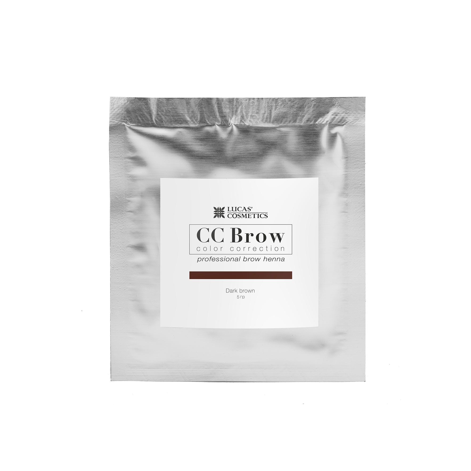 LUCAS' COSMETICS Хна для бровей в саше (темно-коричневый) / CC Brow (dark brown), 5 гр