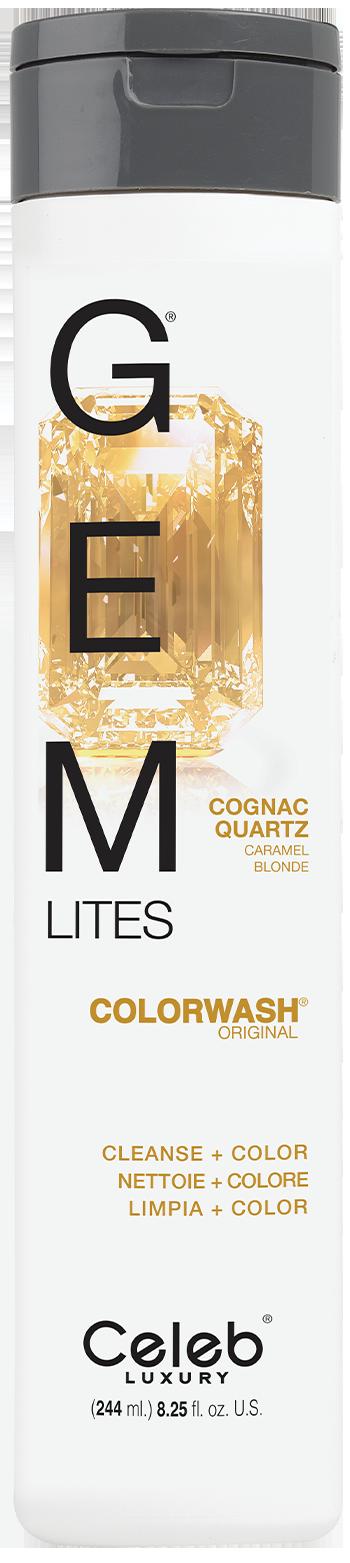 Купить CELEB LUXURY Шампунь для яркости цвета, коньячный кварц / Gem Lites Shampoo Cognac Quartz 244 мл