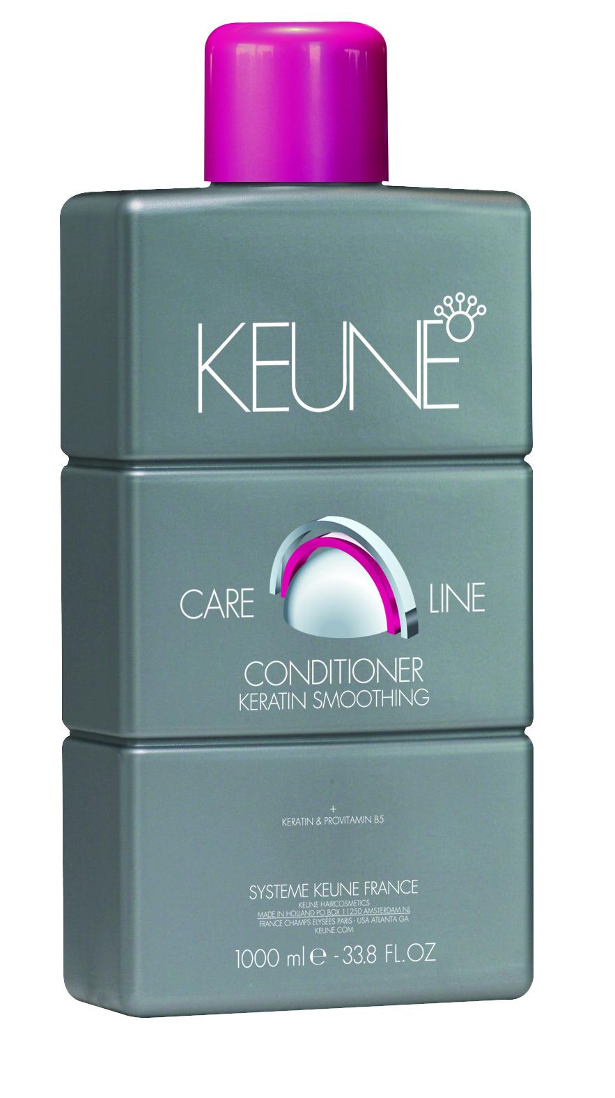 KEUNE Кондиционер Кэе Лайн Кератиновый комплекс / CL KERATIN SMOOTING CONDITIONER 1000млКондиционеры<br>Содержащийся в составе кондиционера кератин глубоко поникает в ствол волоса, укрепляет его структуру и сглаживает поверхность волоса. Масло Ши и провитамин В5 эффективно питают волосы и восстанавливают естественный баланс влажности волос и кожи головы. Благодаря специальному Quat Complex, Ваши волосы надежно защищены от термических повреждений (слишком горячий фен или парикмахерский утюжок) и от механических повреждений (слишком интенсивное расчесывание). Quat Complex также очень активно оздоравливает волосы, делает их крепкими, эластичными и блестящими. Активные ингредиенты: кератин, масло ши, провитамин В5, Quat Complex. Способ применения: нанести кондиционер на влажные чистые волосы и равномерно распределить его по всей длине. Далее набрать в горсть теплой воды и хорошенько вспенить средство на волосах. Тщательно смыть и высушить волосы полотенцем.<br><br>Типы волос: Поврежденные<br>Назначение: Секущиеся кончики