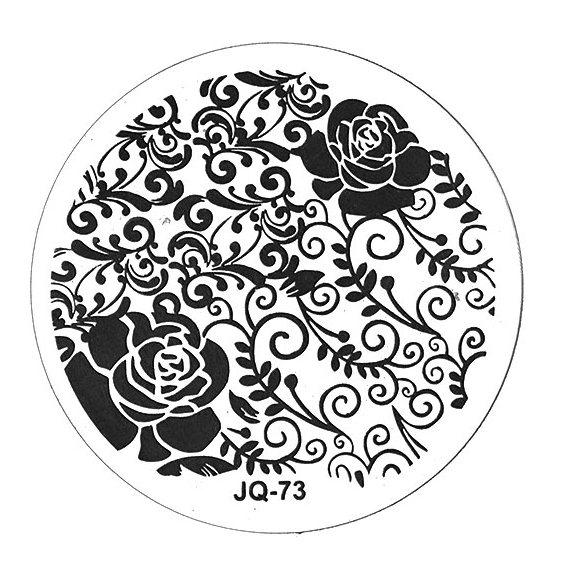 TNL PROFESSIONAL Трафарет металлический малый для стемпинга Чайная роза (в индивидуальной упаковке)