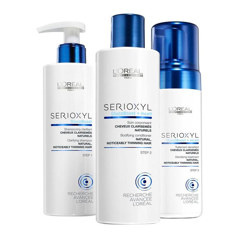 LOREAL PROFESSIONNEL Набор для натуральных волос (шампунь 250мл + смываемый уход 250мл + уплотняющий мусс 125мл) / СЕРИОКСИЛ