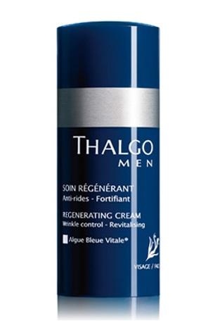 THALGO Тальгомен восстанавливающий крем / Regenerating Cream 50млЛицо<br>Для мужчин, желающих получить эффективный омолаживающий уход, укрепить кожу, наполнить ее энергией и жизненной силой. Благодаря высокотехнологичным активным компонентам крем наполняет и питает клетки кожи, восстанавливает и способствует уменьшению глубины морщин. Кожа становится упругой и эластичной. Активные ингредиенты: морской комплекс, экстракты водорослей падина павоника, экстракт бука, матриксил, Альго Блю Витал .Способ применения: сразу после бритья нанести эмульсию на очищенную кожу лица и шеи легкими движениями.<br><br>Пол: Мужской