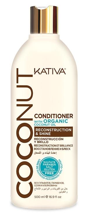 Купить KATIVA Кондиционер восстанавливающий с органическим кокосовым маслом для поврежденных волос / COCONUT 500 мл