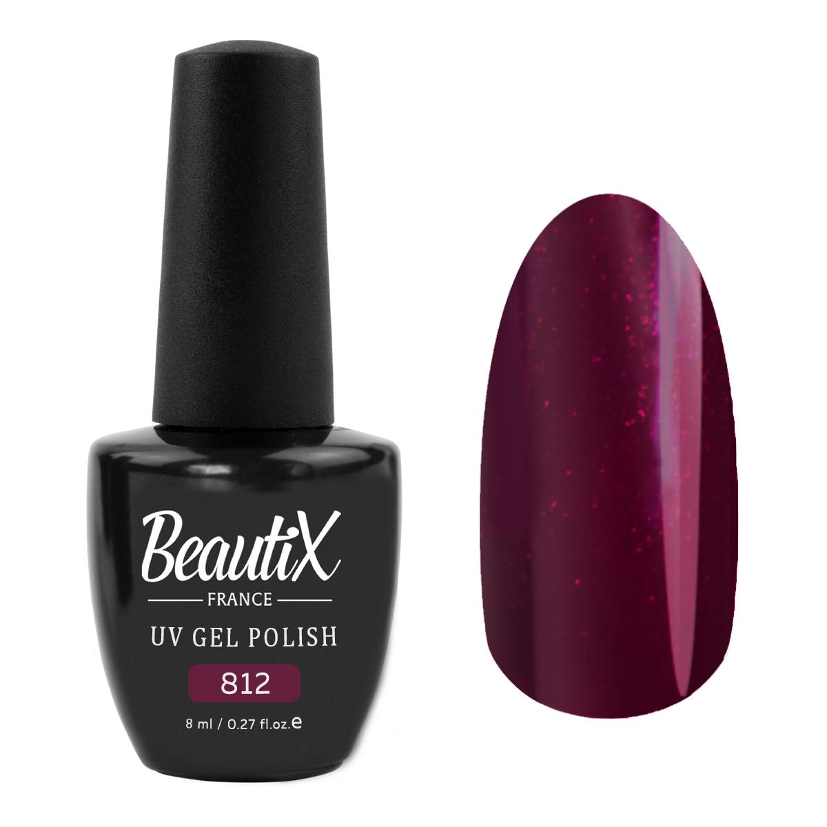 Купить BEAUTIX 812 гель-лак для ногтей 8 мл, Фиолетовые