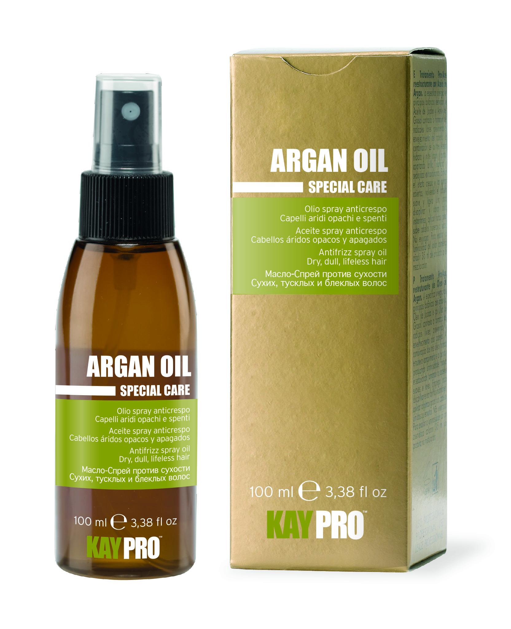 KAYPRO Масло-спрей с аргановым маслом против сухости волос / KAYPRO 100мл