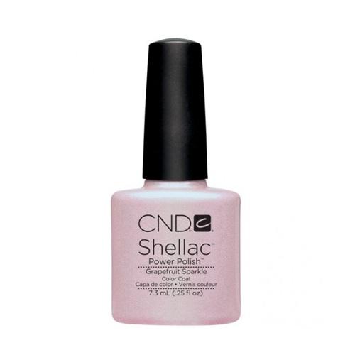 CND 057 покрытие гелевое Grapefruit Sparkle / SHELLAC 7,3мл cnd 083 покрытие гелевое bare chemise shellac 7 3мл