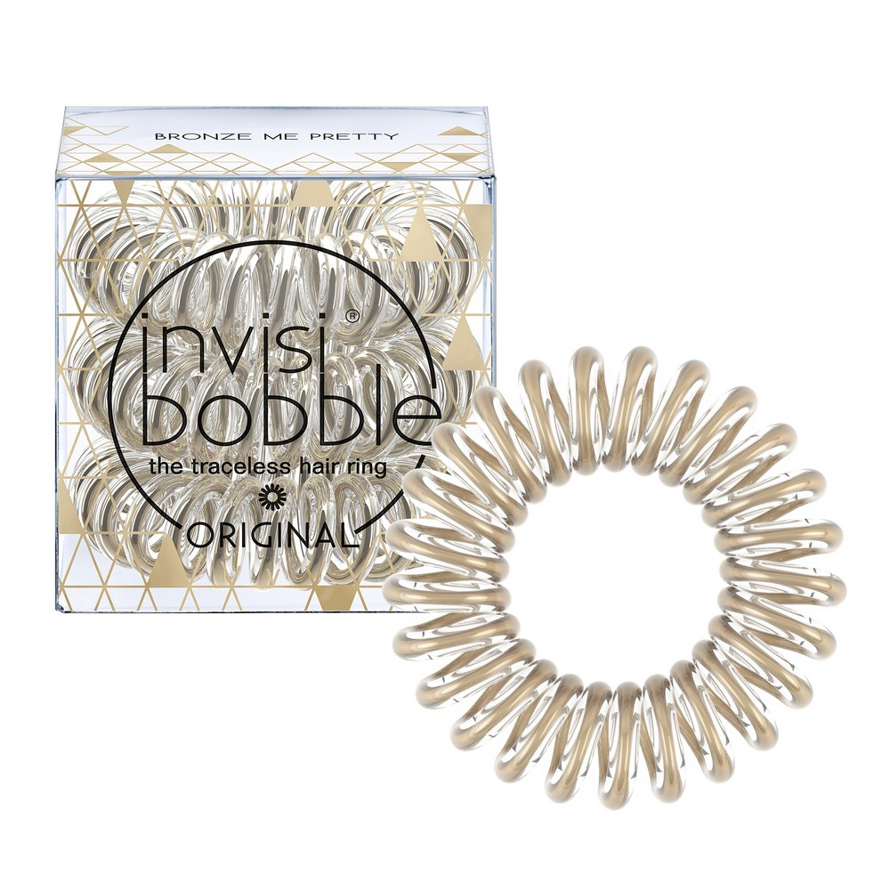 INVISIBOBBLE Резинка-браслет для волос / ORIGINAL Time To Shine Bronze Me Pretty