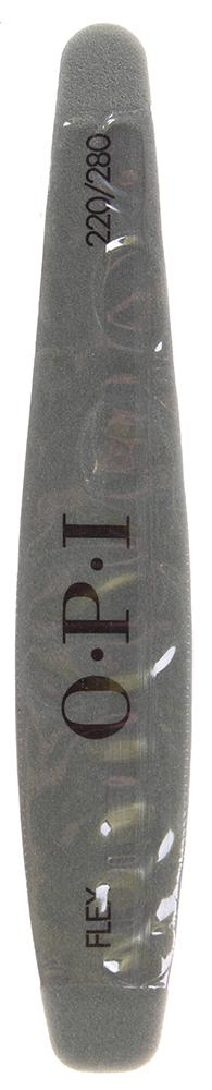 OPI Бафф серебряный 220/280/ Flex File 220/280 gritПилки для ногтей<br>Абразив 220 предназначен для обработки всех типов искусственных ногтей. Тонкий абразив 280 обеспечивает доводку поверхности ногтей из геля и акрила. Пилочка бафф серебряный Flex File 220/280 grit OPI с алмазной крошкой, обрабатывая искусственные ногти, подготавливает их к обработке баффом Блеск.     Пилка Бафф серебряный для профессионалов обеспечивает обработку и создание оптимальной формы ногтей. Применяется для акриловых и гелевых ногтей.  Состав: Металл, оксид кремния или оксид алюминия, мелкозернистый абразивный слой 220\280.  Способ применения: Рекомендуется для профессионального маникюра и педикюра. Может использоваться как в салонах, так и в домашних условиях.<br>