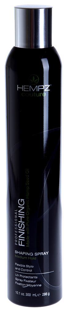 HEMPZ Лак средней фиксации для волос / Finishing Shaping Spray Medium Hold 300млЛаки<br>Эксклюзивная формула с ультрадисперсным распылением на основе экстракта семян конопли и полимеров, обеспечивающих защиту, фиксацию и возможность поэтапного моделирования волос. Легкая формула образует сверхтонкую плёнку, обеспечивает прочную, подвижную и влагоустойчивую фиксацию. Протеины сои и пшеницы придают здоровый блеск, защищают от влажности и агрессивного воздействия факторов окружающей среды, блокируют необходимую влагу в волосах, препятствуя внешнему воздействию влаги. UV защита препятствует выгоранию цвета окрашенных и натуральных волос. АРОМАТ: Гелиотроп. Активные ингредиенты: Экстракт семян конопли, гидролизированные протеины пшеницы, диметикон. Способ применения: Хорошо встряхнуть перед использованием. Равномерно распылить на волосы после укладки для надежной фиксации или использовать в процессе укладки для создания формы и дополнительной фиксации. Для получения наилучшего результата используйте в комплексе c продуктами Линии по уходу за волосами HEMPZ, смешивайте и комбинируйте с любым продуктом из Линии стайлинга HEMPZ.<br><br>Объем: 300<br>Типы волос: Окрашенные