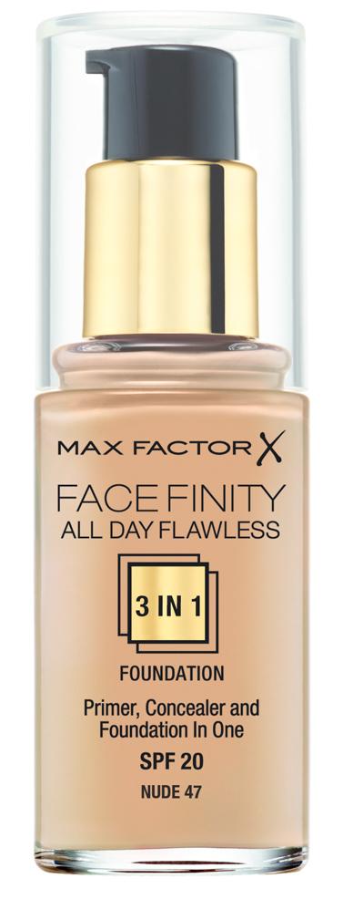 Купить MAX FACTOR Основа тональная 47 / Facefinity All Day Flawless 3-in-1 nude