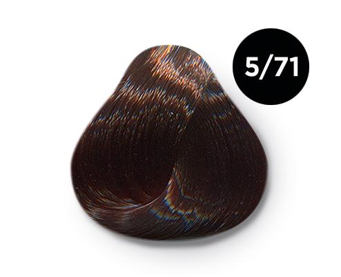 OLLIN PROFESSIONAL 5/71 краска для волос, светлый шатен коричнево-пепельный / OLLIN COLOR 60 мл