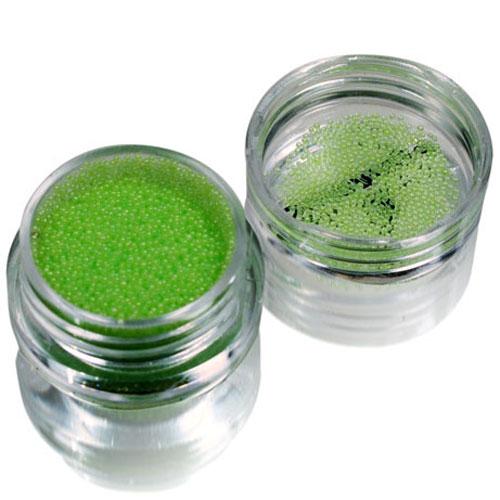 SOLOMEYA Бульонки для дизайна, салатовый стеклярус