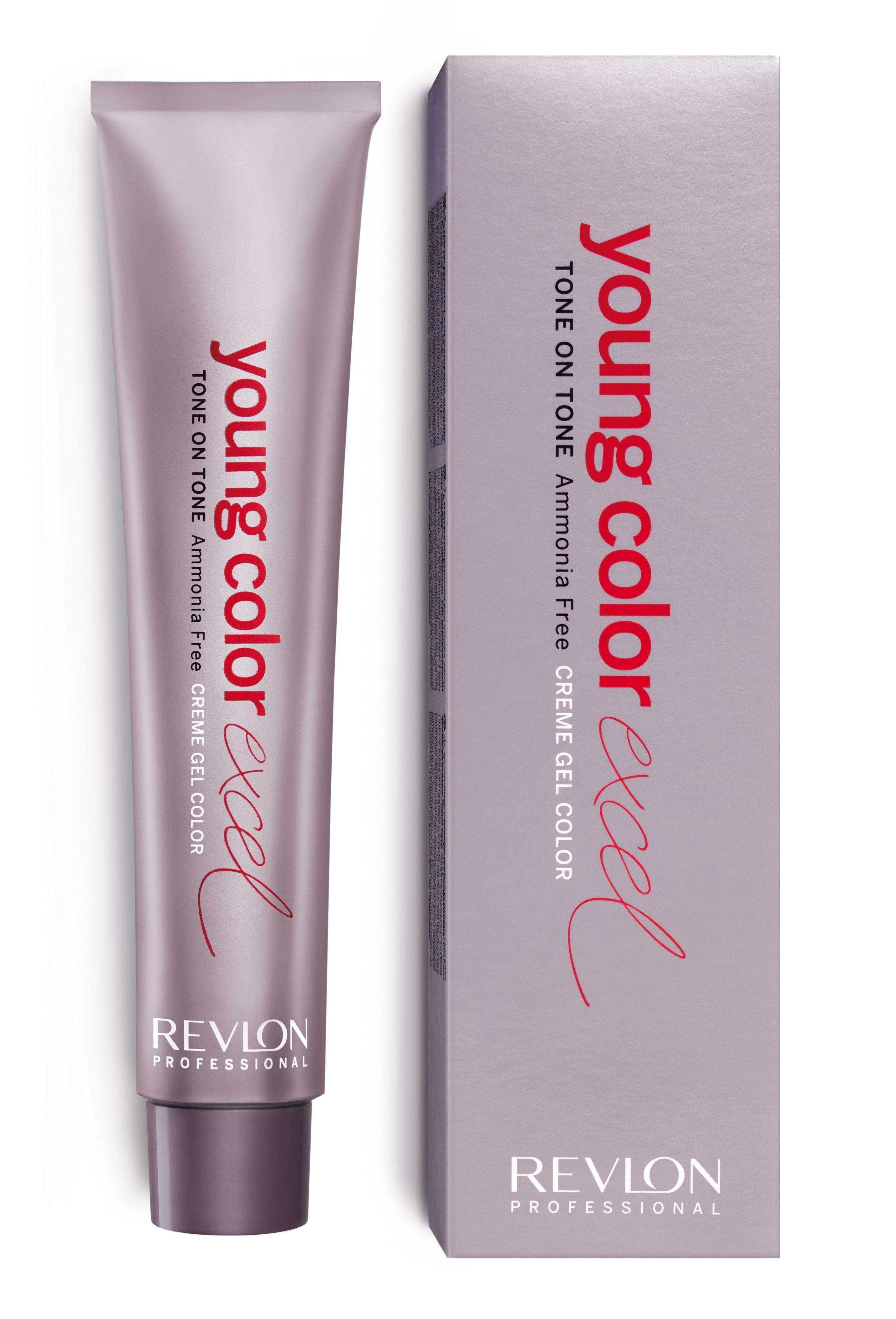 REVLON PROFESSIONAL 7-1 крем-гель полуперманентный, блондин гавана / YOUNG COLOR EXCEL 70 мл фото